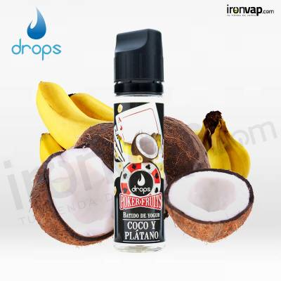 Coco y Plátano 50ml TPD - Poker Fruits Drops