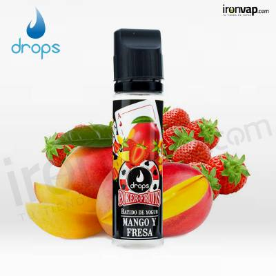 Mango y Fresa 50ml TPD - Poker Fruits Drops