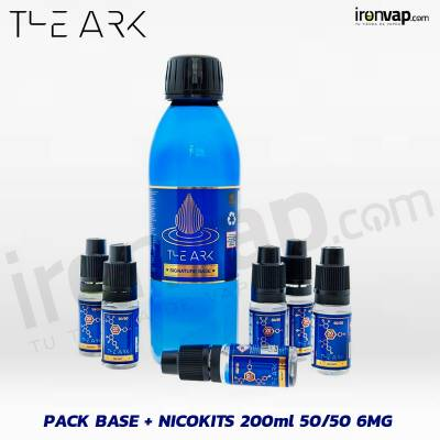 Pack Base + Nico Kits 200ml 50PG/50VG 6mg - The Ark