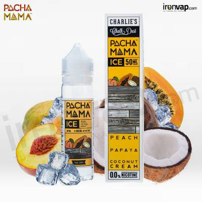 Peach Papaya Coconut Cream Ice 50ml TPD - Pachamama