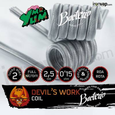 Devil's Work 0.15 Ohm - Bacterio Coils & Mr. Yum
