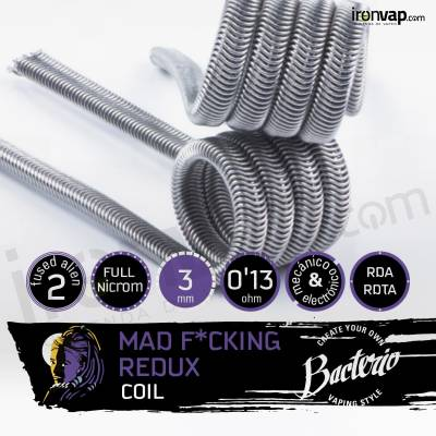 Mad F*ucking Redux 0.13ohm - Bacterio Coils
