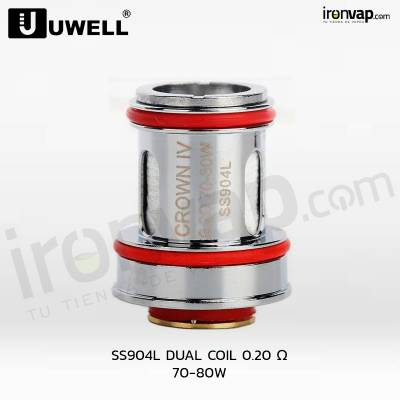SS904L Coil 0.2 OHM Crown IV - Uwell