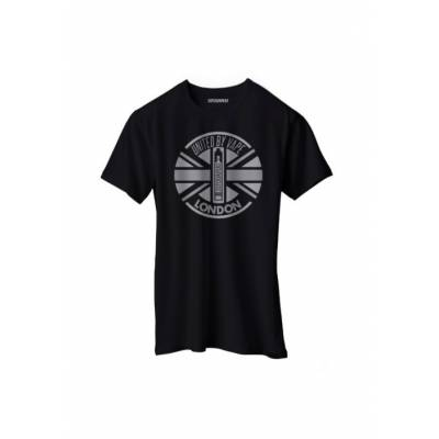 CAMISETA LONDON NEGRA Y PLATA